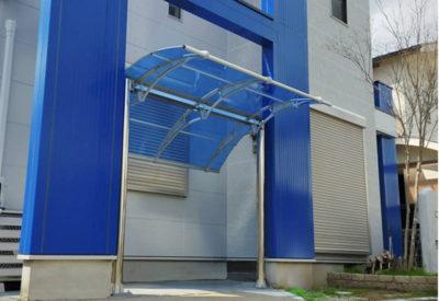 自転車置き場施工事例キャロキャロ庇専門店ひさしっくす
